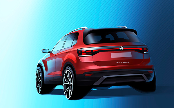 T cross futtur SUV VW
