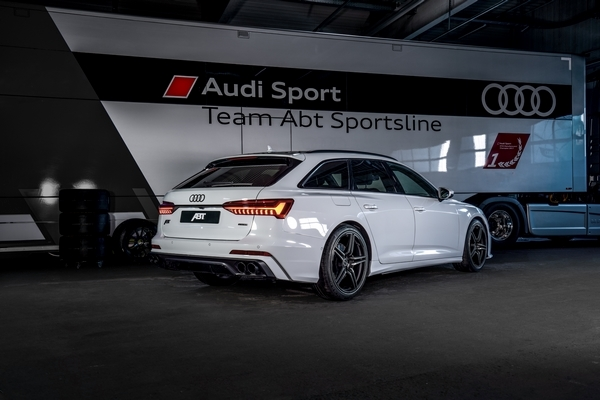 ABT Audi A6 glacier white aerodynamics package 06