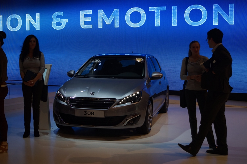 Salon European Motor Show  Bruxelles 2014  Photo Yves Lefevere  Peugeot 308